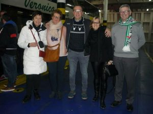 Hortense met Eline, Alex en Dimitri op de ferry